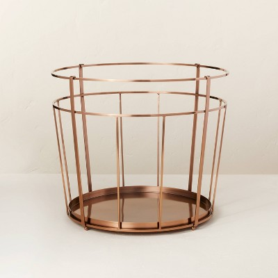 Copper Finish Metal Firewood Basket - Hearth & Hand™ with Magnolia