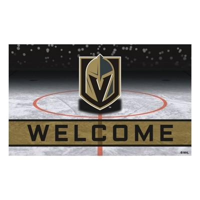 """NHL Vegas Golden Knights Rubber Door Mat 18""""x30"""""""
