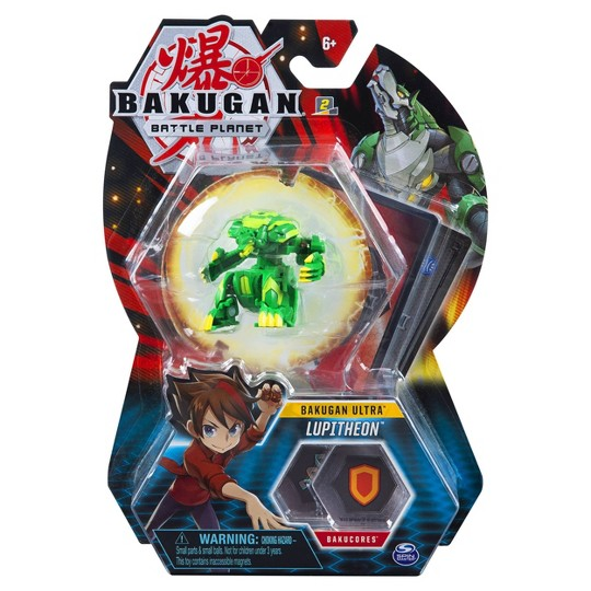 """""""Bakugan Ultra Lupitheon 3"""""""" Collectible Action Figure and Trading Card"""" image number null"""