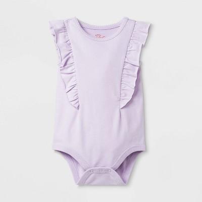 Baby Girls' Ruffle Solid Bodysuit - Cat & Jack™ Purple Newborn
