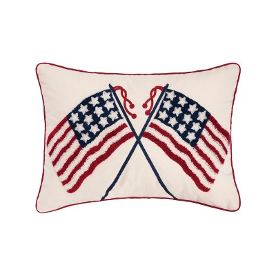 C&F Home Double US Flag July 4th Pillow