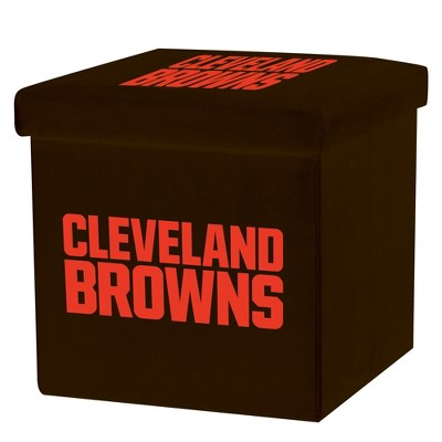 NFL Franklin Sports Cleveland Browns Storage Ottoman with Detachable Lid