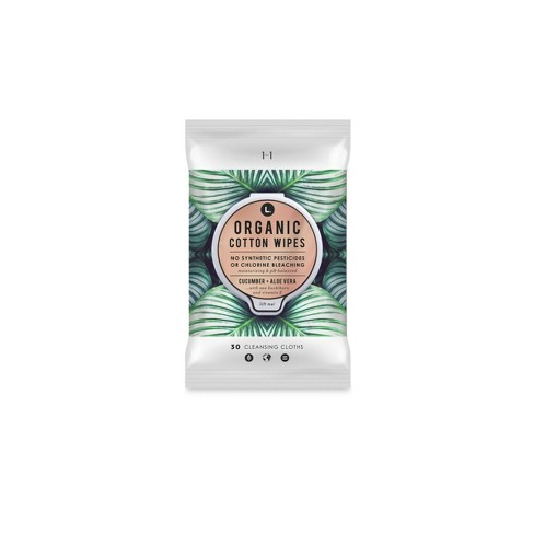 L. Organic Cotton Cucumber and Aloe Scented Wipes - 30ct - image 1 of 2