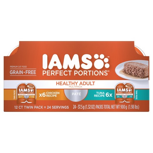 IAMS Perfect Portions Healthy Adult Pate Variety Pack Wet Cat Food - 12ct - image 1 of 4
