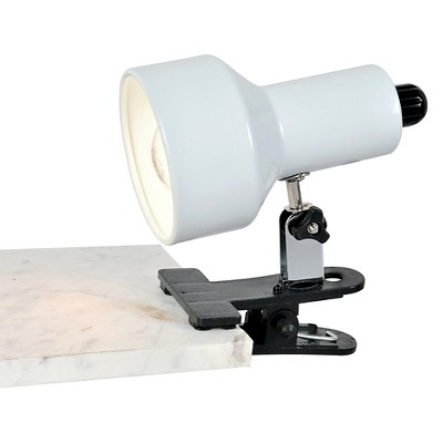Clip-On II 1 Light Desk Lamp with White Shade - Lite Source