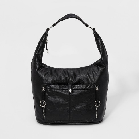 Bueno Washed Grainy Hobo Handbag