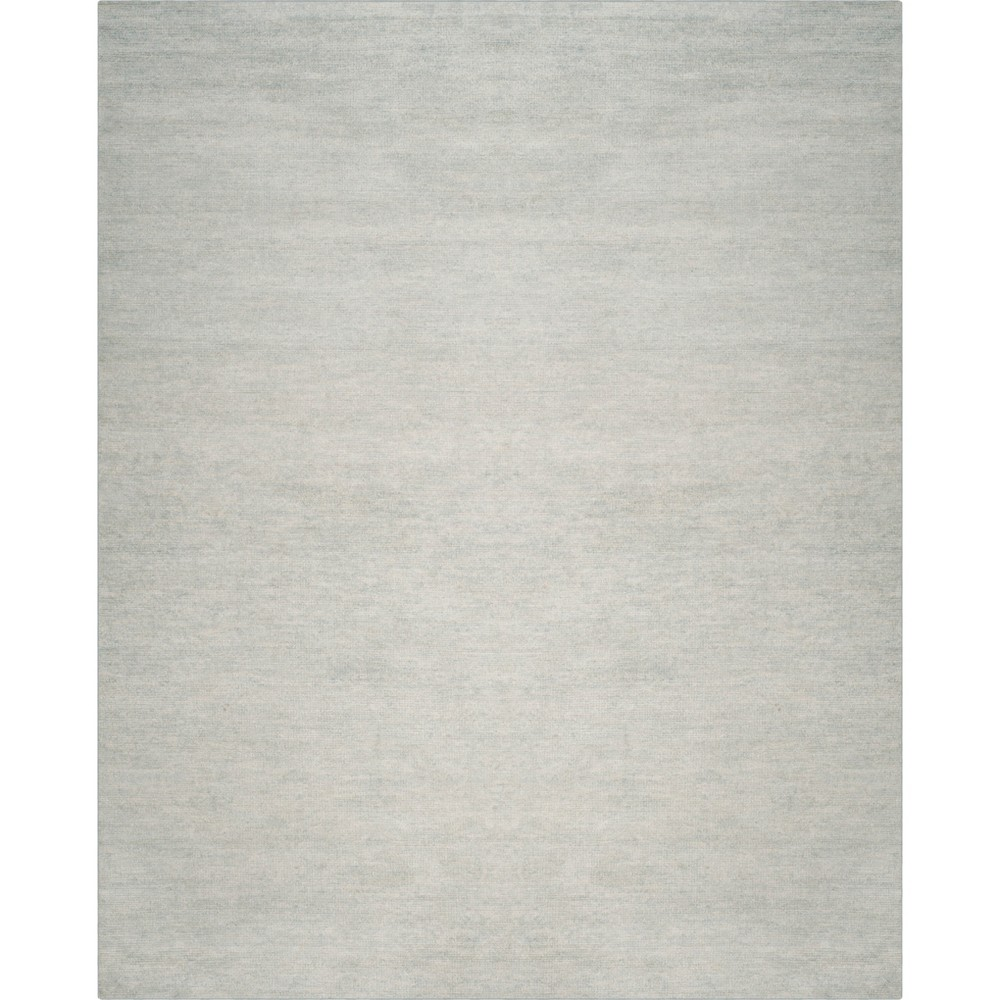 8'X10' Solid Knotted Area Rug Light Blue/Light Gray - Safavieh