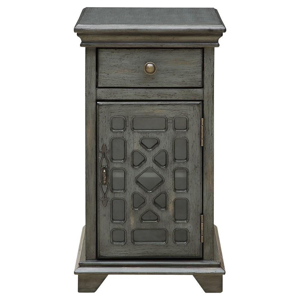Chippendale Chairside Cabinet Gray - Treasure Trove