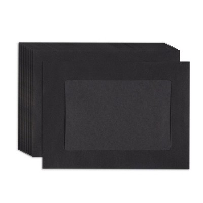 """50-Pack Photo Insert Paper Picture Frame, DIY Wall Decoration, Black Paper, Holds 4"""" x 6"""" Photos"""