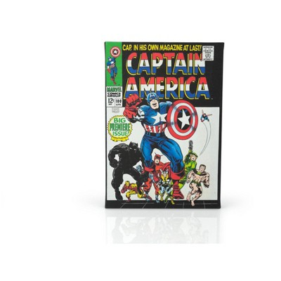 Geek Fuel c/o INDUSTRY RINO Marvel Comics Captain America #100 Comic Book Canvas Art Poster | 9 x 5 Inches