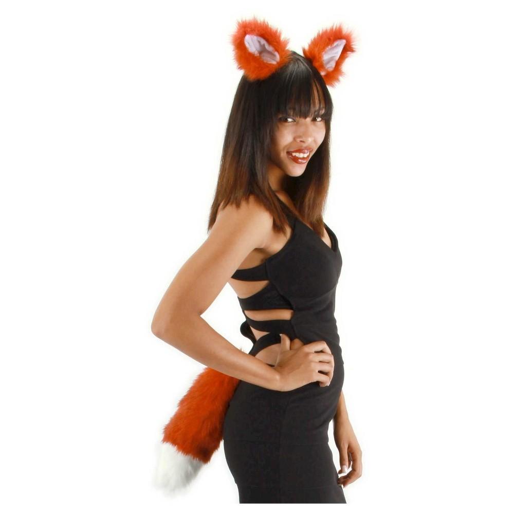 Halloween Fox Accessory Kit One Size Fits Most, Women's, Orange