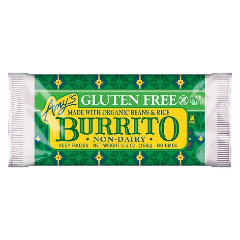 Amy's Gluten and Dairy Free Bean & Rice Frozen Burrito - 5.5oz - image 1 of 1