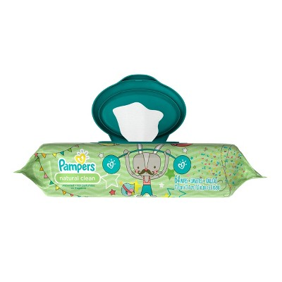 Pampers Baby Wipes Natural Clean - 64ct