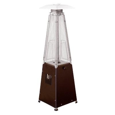 Portable Glass Tube Outdoor Patio Heater - Bronze - AZ Patio Heaters