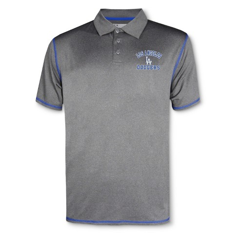 MLB Los Angeles Dodgers Men's Your Team Gray Polo Shirt - image 1 of 1