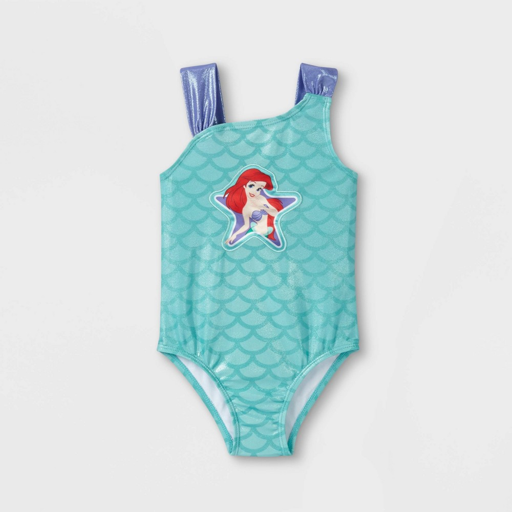 Toddler Girls 39 Ariel One Piece Swimsuit Turquoise 2t