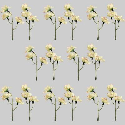 16pk White Flower Sprigs - Bullseye's Playground™