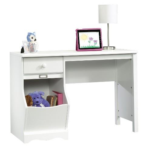Pogo Desk with Easy Glide Drawer and Storage Bin - Soft White - Sauder - image 1 of 4