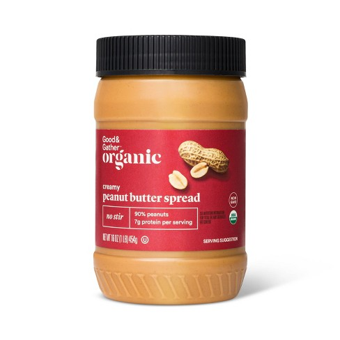 Organic No Stir Creamy Peanut Butter - 16oz - Good & Gather™ - image 1 of 2