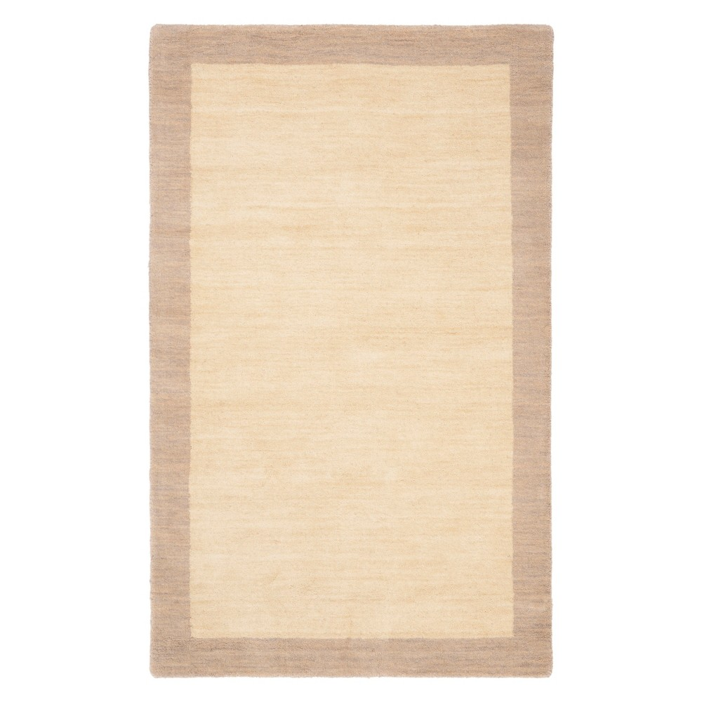 Image of 3'X5' Color Block Loomed Accent Rug Ivory/Beige - Safavieh