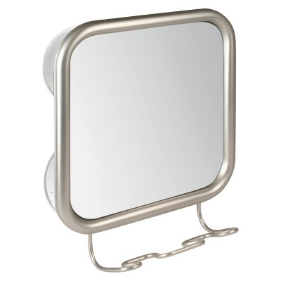 Shower Mirror Satin Silver - iDESIGN