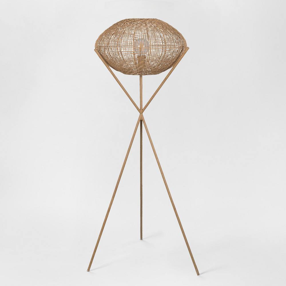 Natural Woven Tripod Floor Lamp Natural (Includes Energy Efficient Light Bulb) - Project 62 + Leanne Ford