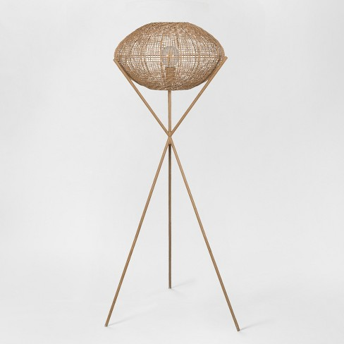Natural Woven Tripod Floor Lamp Includes Energy Efficient Light Bulb Project 62 Leanne Ford Target