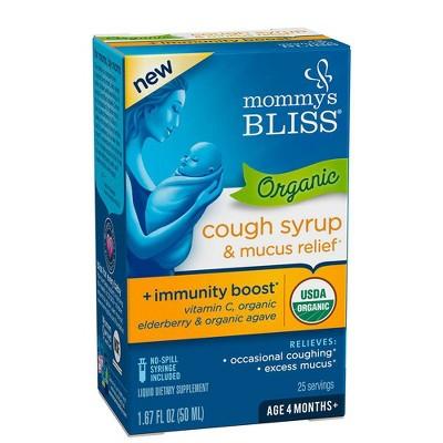 Mommy's Bliss Baby Organic Cough & Mucus Relief Liquid - Elderberry - 1.67 fl oz
