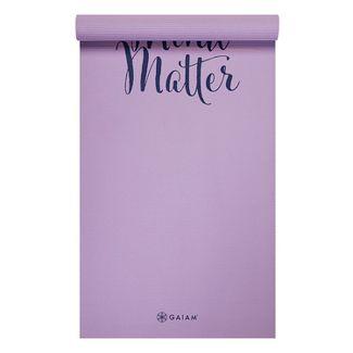 Gaiam Mind Over Matter Yoga Mat (6mm) - Lilac