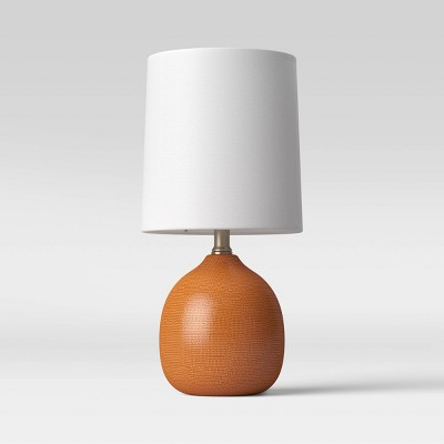 Ceramic Pattern LED Accent Lamp Orange (Includes Energy Efficient Light Bulb)- Threshold™