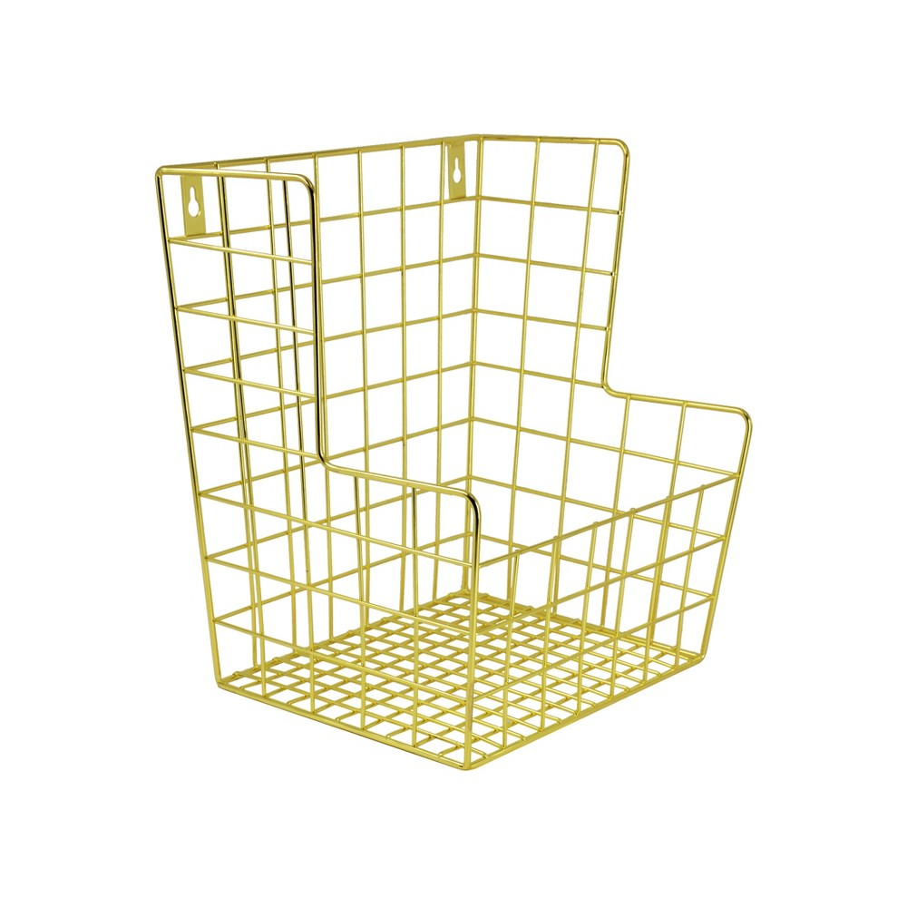 Image of Decorative Wall Hanging Toy Storage Basket Gold - Pillowfort