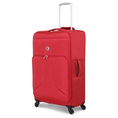 "Global Traveler Mount Edna 28"" Checked Suitcase - Rust Red - image 1 of 5"