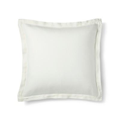 Sour Cream Lightweight Linen Pillow Sham (Euro)- Fieldcrest®
