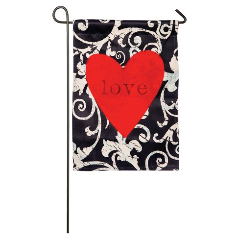 Valentine's Day Love in the Heart Garden Sub Suede Flag - image 1 of 1