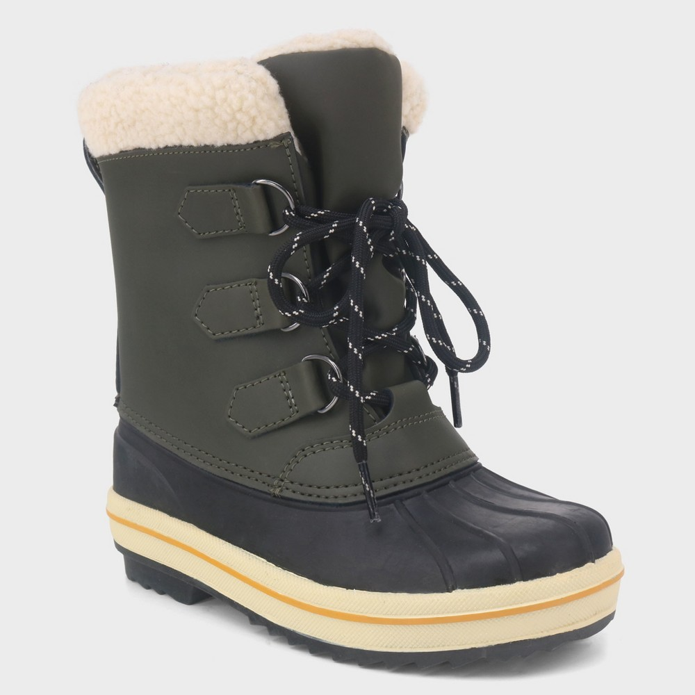 Boys' Winston Duck Winter Boots - Cat & Jack Olive (Green) 5