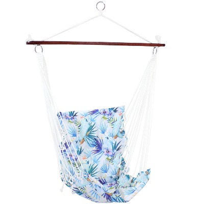 Sunnydaze Decor Hanging Hammock Chair Swing with Spreader Bar and Padded Back