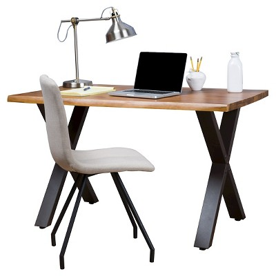 Jedidiah Acacia Wood Computer Desk Teak Finish - Christopher Knight Home