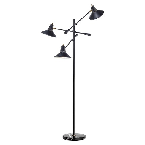 Adesso Nelson 3 Arm Floor Lamp - Black - image 1 of 1