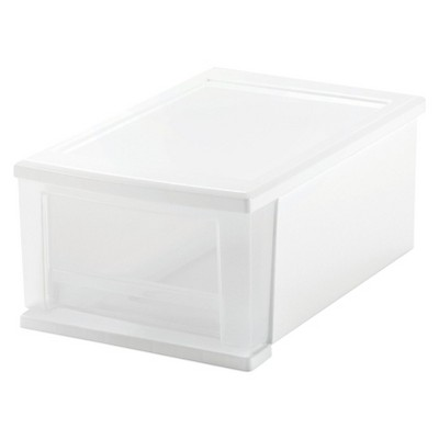 IRIS 4pk 7qt Plastic Storage Stacking Drawer