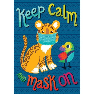 One World Keep Calm and Mask On Poster - Carson Dellosa