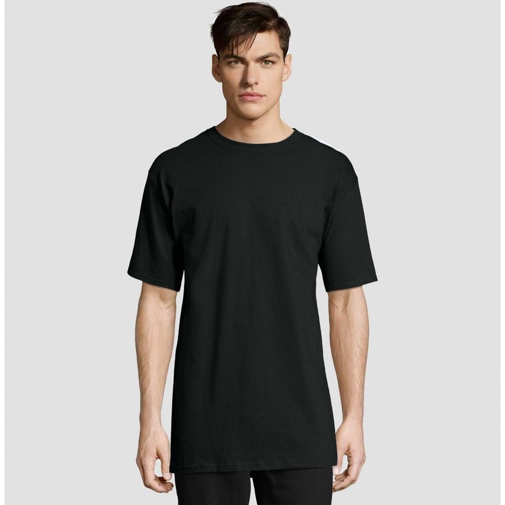 Hanes Men's Tall Short Sleeve Beefy T-Shirt - Black 2XLT