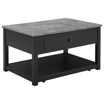 Ezmonei Lift Top Cocktail Table Black/Gray - Signature Design by Ashley