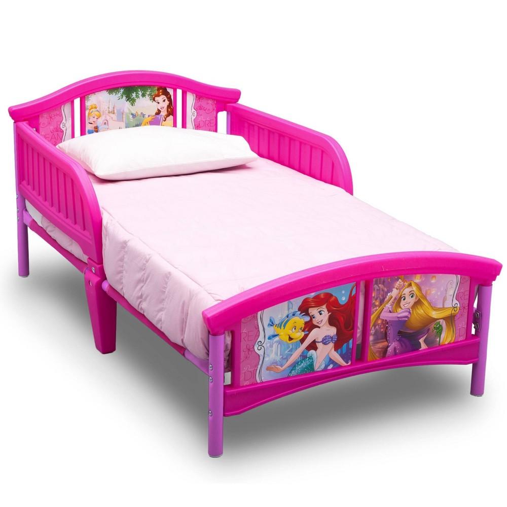 Image of Toddler Disney Princess Plastic Bed - Delta Children