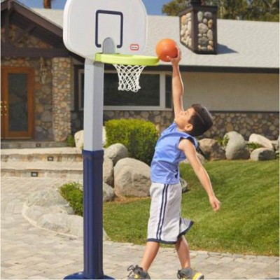 Little Tikes Adjust 'n Jam Pro Basketball Hoop Toy with Weighted Sand Base