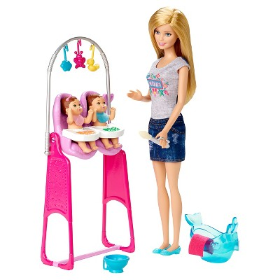 Barbie Careers Twins Babysitter Doll and Playset