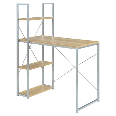Designs2Go Office Workstation Silver/Wood - Convenience Concepts