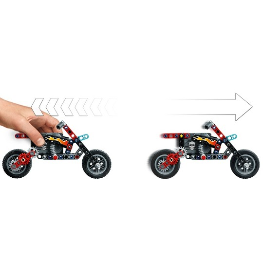 LEGO Technic Stunt Show Truck and Bike 42106 with Trailer and Fire Ring image number null