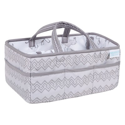 Trend Lab Waverly Baby Diaper Caddy Congo Line - Gray