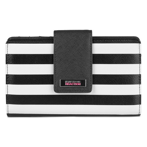 Kenneth Cole Reaction Women's Faux Leather Striped Utility Tab Clutch Wallet - image 1 of 3