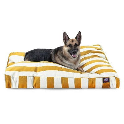 Majestic Pet Vertical Stripe Rectangle Dog Bed - Yellow - Extra Large - XL